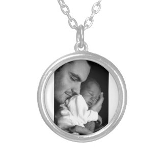 Father and Son Silver Plated Necklace