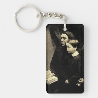 Father and Son Single-Sided Rectangular Acrylic Key Ring