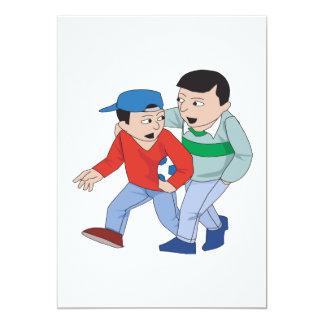 Father And Son Soccer 13 Cm X 18 Cm Invitation Card
