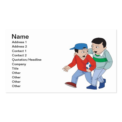 Father And Son Soccer Business Card Templates