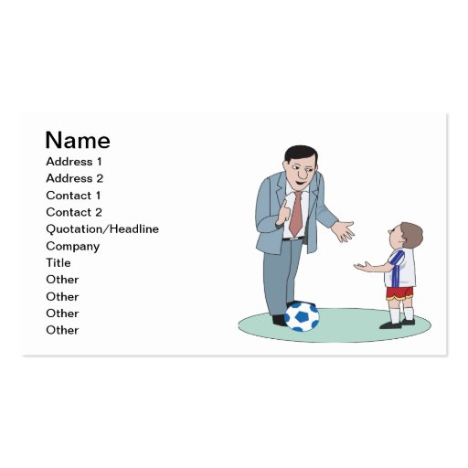Father And Son Soccer Business Card Template