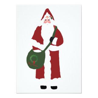 Father Christmas 14 Cm X 19 Cm Invitation Card