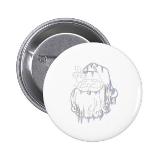 Father Christmas 6 Cm Round Badge