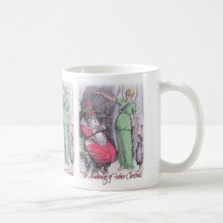 Father Christmas awakened by Charity mug
