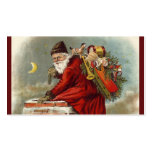 Father Christmas Chimney Rooftop Business Card