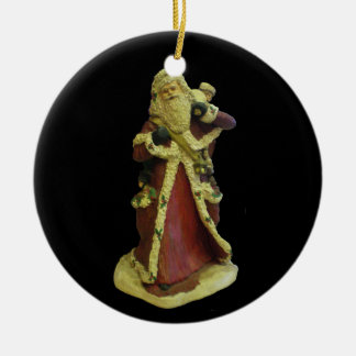 """FATHER CHRISTMAS COLLECTIBLE ORNAMENT"" ROUND CERAMIC DECORATION"