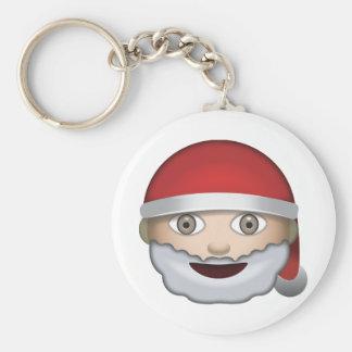 Father Christmas Emoji Key Ring