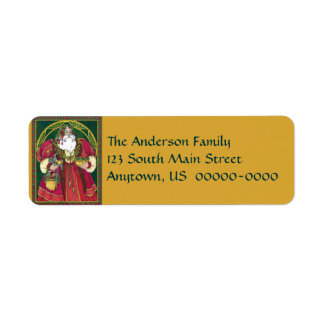 Father Christmas Holiday Avery Label Return Address Label