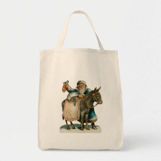 Father Christmas Organic Grocery Tote Tote Bag