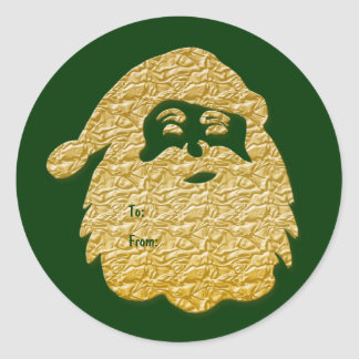 """Father Christmas"" Santa Claus elegant gold Stickers"
