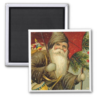 Father Christmas - Vintage Art Magnet