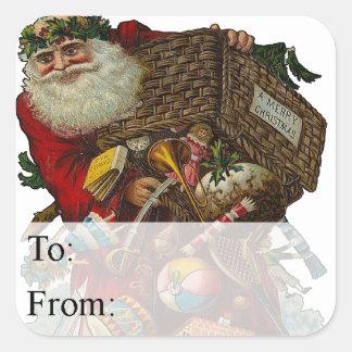 Father Christmas Vintage Gift Tag
