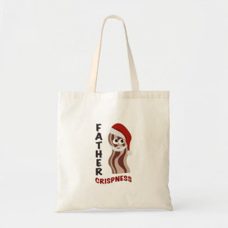Father Crispness! Bacon Canvas Bags