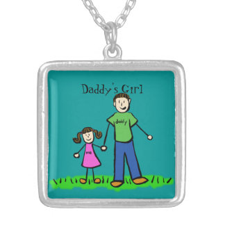 Father Daughter Custom Art Necklace