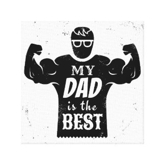 Father day canvas print