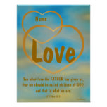 Father God's Love Poster -Customise