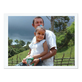 Father Holding daughter in Park. 17 Cm X 22 Cm Invitation Card