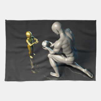 Father Imparting Wisdom to His Child or Son Tea Towel