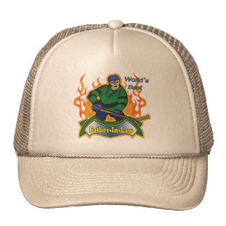 Father-in-law Hockey T-shirts and Gifts Trucker Hat