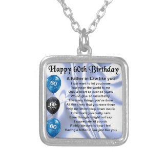 Father in Law Poem - 60th Birthday Jewelry