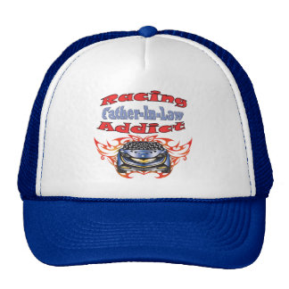 Father-in-law Racing Addict Gifts Trucker Hat