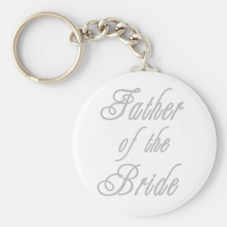 Father of Bride Classy Grays Basic Round Button Key Ring