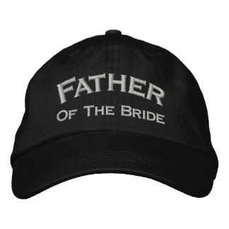 Father Of Bride Embroidered Wedding Hat