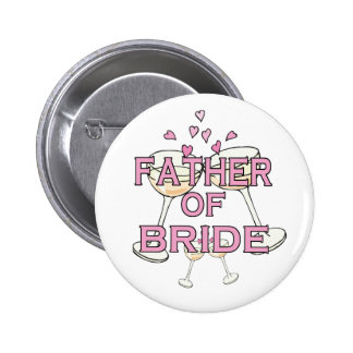 Father of  Bride ID 6 Cm Round Badge