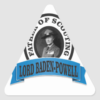 father of scouting lord baden powell triangle sticker