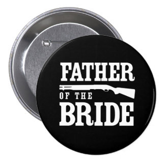 Father of the Bride 7.5 Cm Round Badge