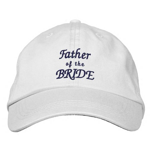 Father of the Bride Adjustable Hat Embroidered Baseball Caps