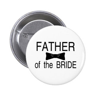 Father Of The Bride Bowtie 6 Cm Round Badge