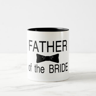 Father Of The Bride Bowtie Two-Tone Coffee Mug
