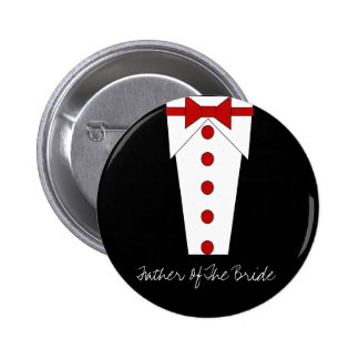 Father Of The Bride Button (Red)