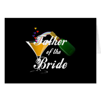 Father of the Bride Champagne Toast Card