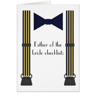 Father of the bride checklist card