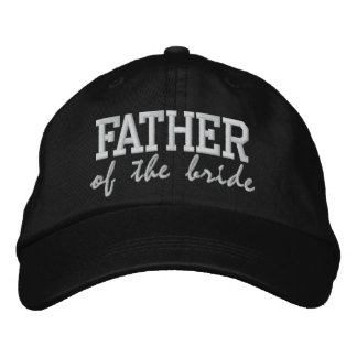 Father of the Bride: Customizable Wedding Cap Embroidered Cap