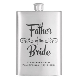Father of the Bride - Funny Wedding Party Gift Hip Flask