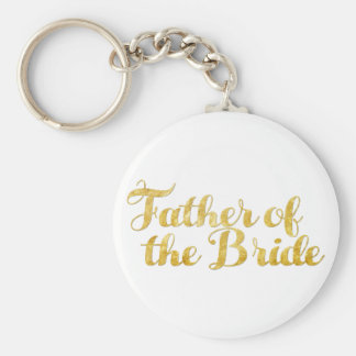 Father of the bride gold key ring
