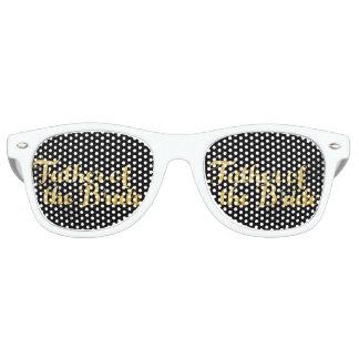 Father of the bride gold retro sunglasses
