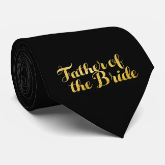 Father of the bride gold tie