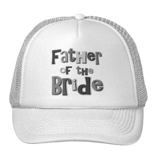 Father of the Bride Gray Mesh Hats