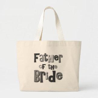 Father of the Bride Gray Jumbo Tote Bag
