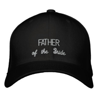 FATHER of the Bride hat Embroidered Baseball Caps
