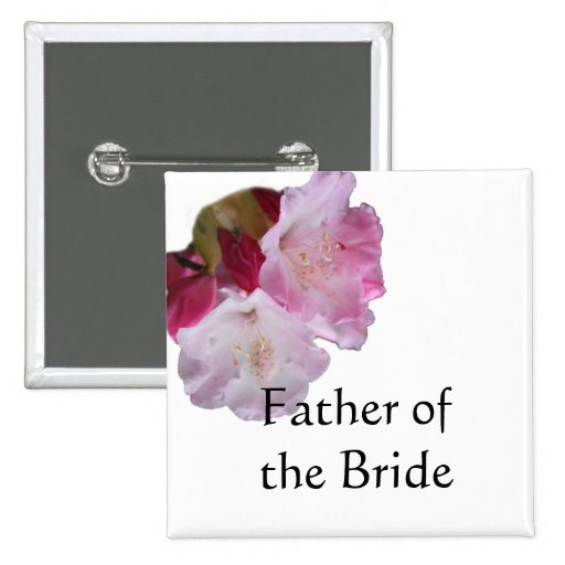 father of the bride or groom wedding button button