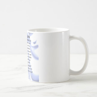 Father of the Bride Poem - Blue Silk Coffee Mug