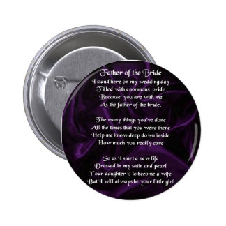 Father of the Bride - Purple Silk 6 Cm Round Badge