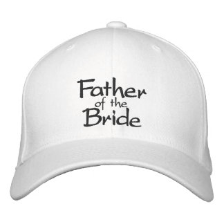 Father of the Bride Stylish Embroidered Cap Embroidered Hats