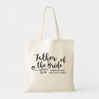 Father of the Bride Tote Bag | Chic Modern Script