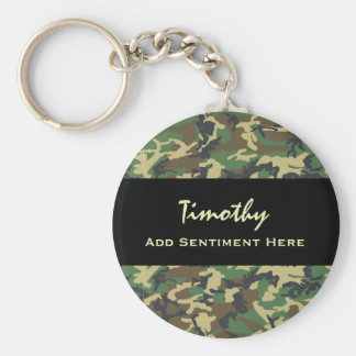 FATHER OF THE BRIDE V13 WOODLAND CAMO BASIC ROUND BUTTON KEY RING